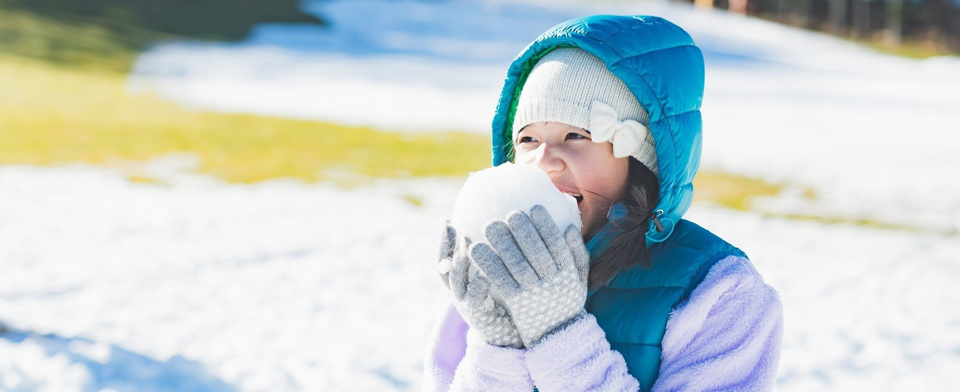 Schnee zum Anbeißen